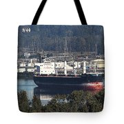 Container Ship Ready To Load More Lumber Tote Bag