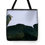Contemplating Heron Tote Bag
