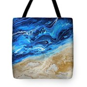 Contemporary Abstract Beach Nacl Tote Bag