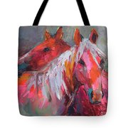 Contemporary Horses Painting Tote Bag