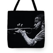 Contemporary Jazz Trumpeter Tote Bag