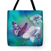 Contemporary Painting Of A Dancing Butterfly  Tote Bag