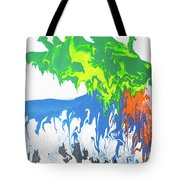 Contemporary Painting Of Moose Tote Bag
