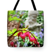 Content Gnome With Bleeding Hearts Tote Bag