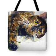 Contented Cat Tote Bag