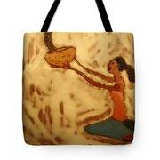 Contentment - Tile Tote Bag