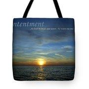 Contentment Tote Bag