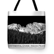 Continental Divide - Indian Peaks - Poster Tote Bag