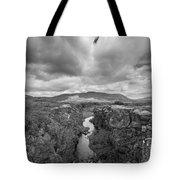 Continental Drift Bw  Tote Bag