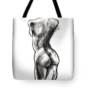 Contra Posta Female Nude Tote Bag by Roz McQuillan