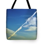 Contrails And Clouds Two  Tote Bag