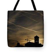 Contrails At Sunrise Tote Bag