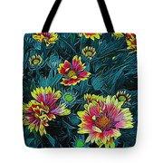 Contrasting Colors Digital Art Tote Bag