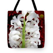 Contrasting Red And White Flowers Tote Bag