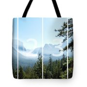 Controlled Burn Of Yosemite Panoramic Map Tote Bag