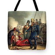 Conventional Battle Scene Tote Bag