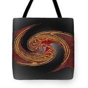 Convergence In Red And Gold Tote Bag