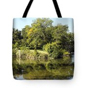 Convergence Of Two Rivers Tote Bag