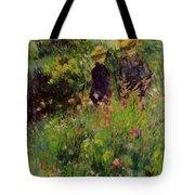Conversation In A Rose Garden 1876 Tote Bag
