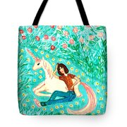 Conversation With A Unicorn Tote Bag