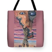 Conversation With Death - My Body Tote Bag by Karen Musick