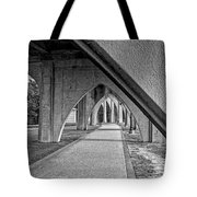 Conway River Walk Black And White Tote Bag