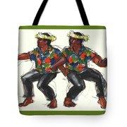 Cook Islands Ute Dancers Tote Bag by Judith Kunzle