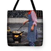 Cooking Breakfast  Tote Bag