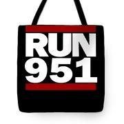 951 Design Run California Gifts 951 Shirt Tote Bag