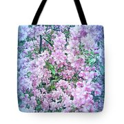 Cool Blue Apple Blossoms Tote Bag