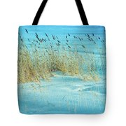 Cool Blue Blowing In The Wind Tote Bag
