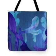 Cool Blue Lilies Tote Bag