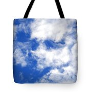 Cool Face In The Blue Sky Tote Bag