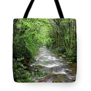 Cool Green Stream Tote Bag