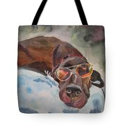Cool Lab With Sunglasses Tote Bag