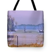 Cool Morning In Vermont Tote Bag