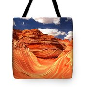Cool Spring Day At The Wave Tote Bag