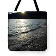 Cool Waters Sunset Tote Bag