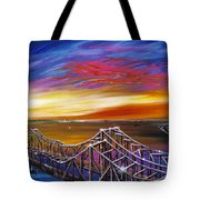 Cooper River Bridge Tote Bag by James Christopher Hill