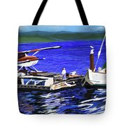 Coos Bay Dockside  Tote Bag