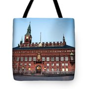 Copenhagen City Hall By Night Tote Bag