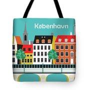 Copenhagen Kobenhavn Denmark Horizontal Scene Tote Bag