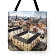 Copenhagen Skyline And Towers Tote Bag
