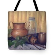 Copper And Glass Tote Bag