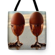 Copper Chicken Feet Egg Cups Tote Bag