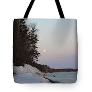 Copper Country Moonset Portrait Tote Bag