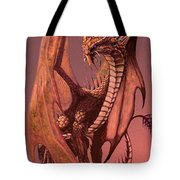 Copper Dragon Tote Bag