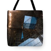 Copper Glass And Steel Geometry - Fabulous Modern Architecture In London U K Tote Bag