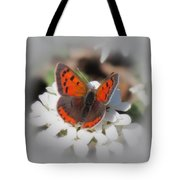 Copper Glow - Butterfly Tote Bag