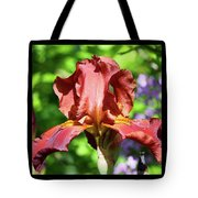 Copper Iris Triptych Squared Tote Bag